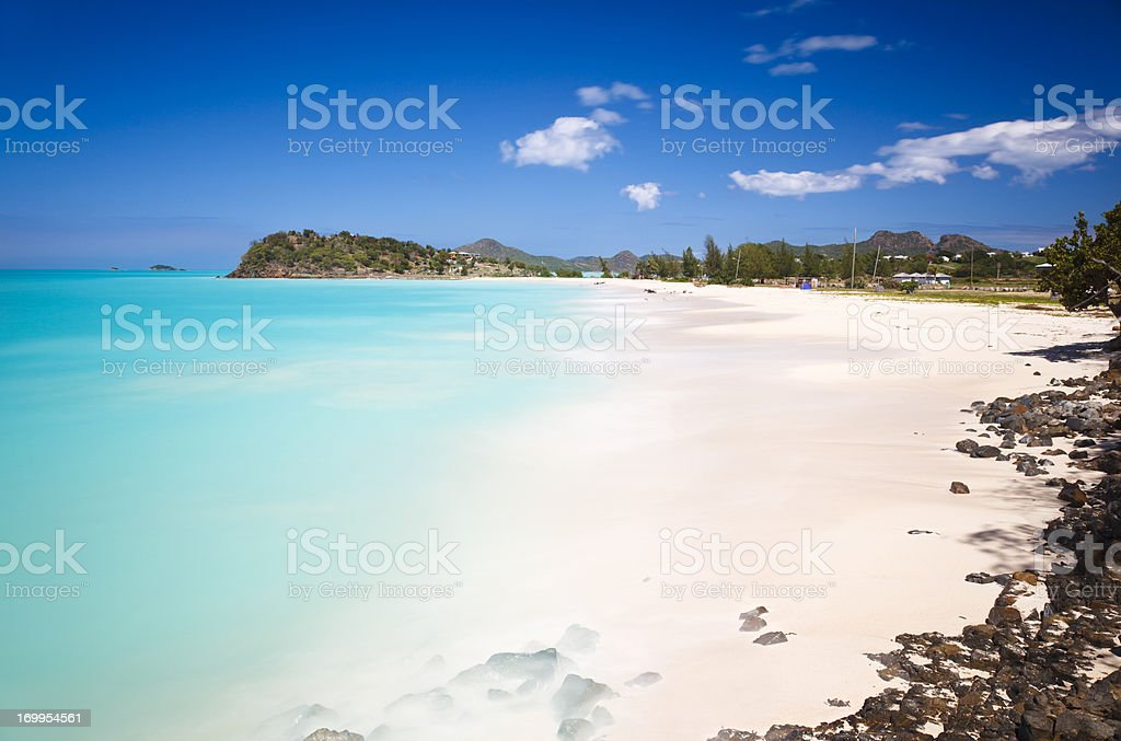 Karibischen Strand mit perfekten Himmel – Foto