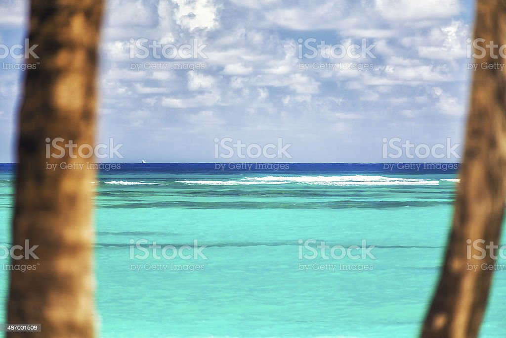 Caribbean Beach With Turquoise Water royalty-free stock photo