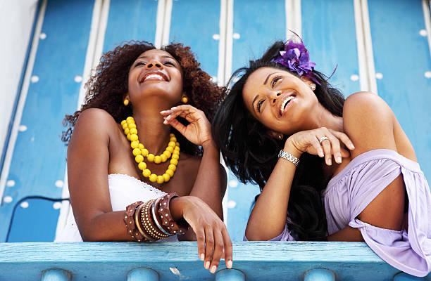 las bellezas caribe - mujeres dominicanas fotografías e imágenes de stock