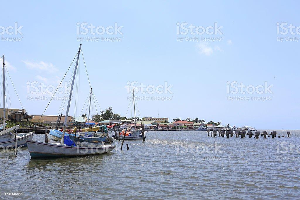 Caribbean: Belize City royalty-free stock photo