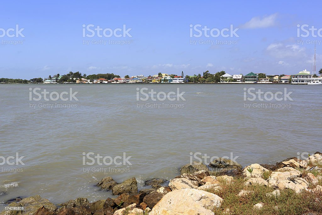 Caribbean: Belize City royalty-free stock photo