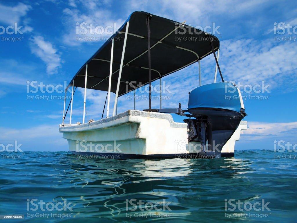 Caribbean boat stock photo