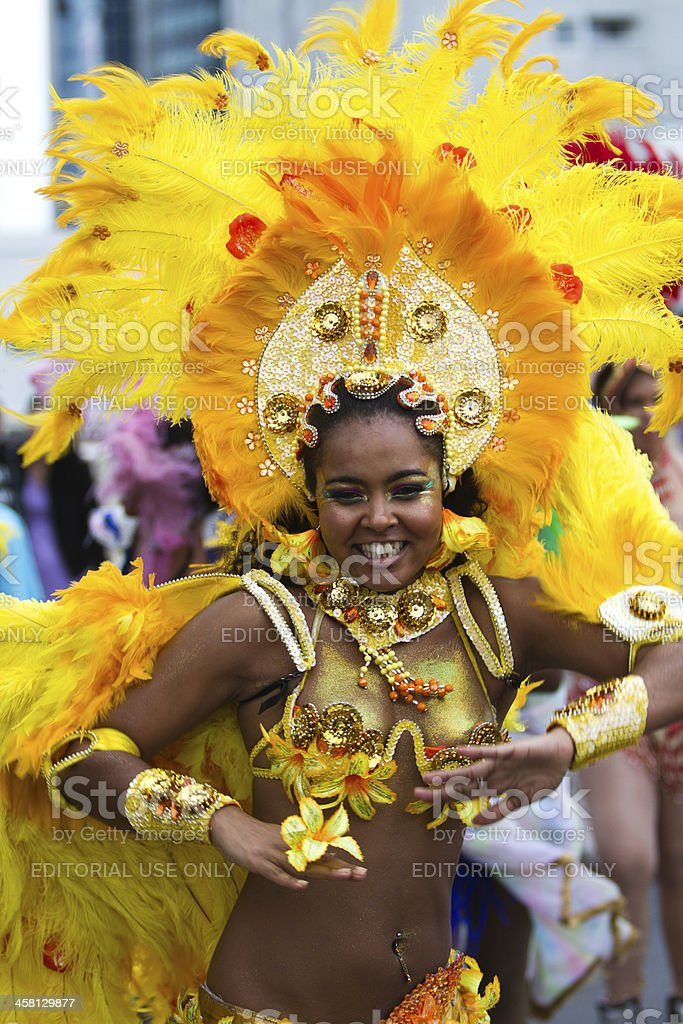 Caribbean Carnaval in Rotterdam royalty-free stock photo