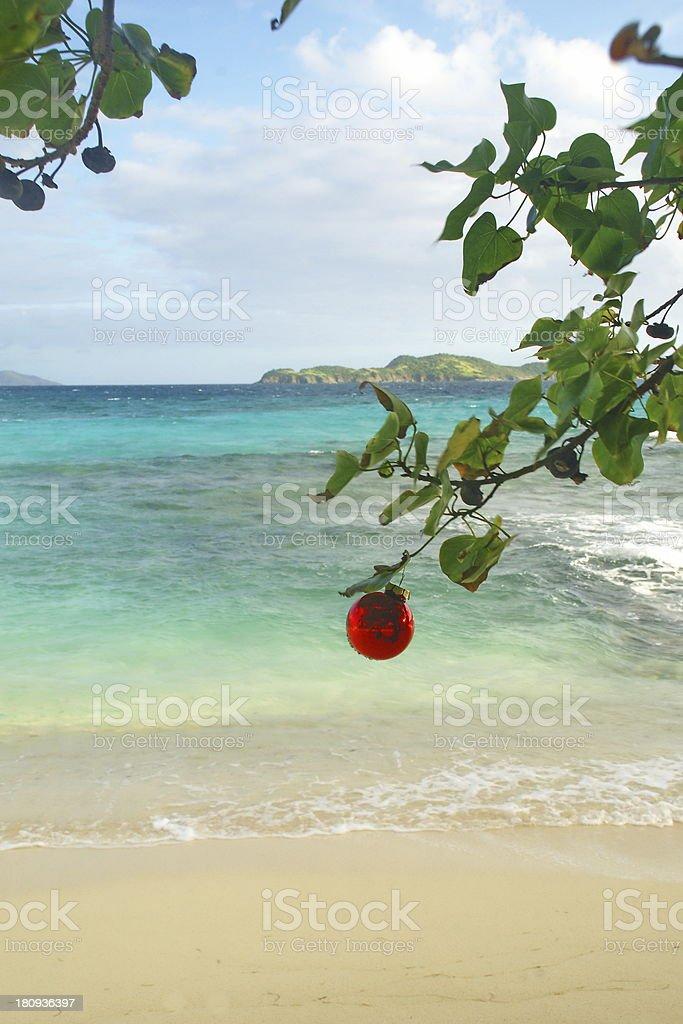 Caribbean Christmas Ornament royalty-free stock photo