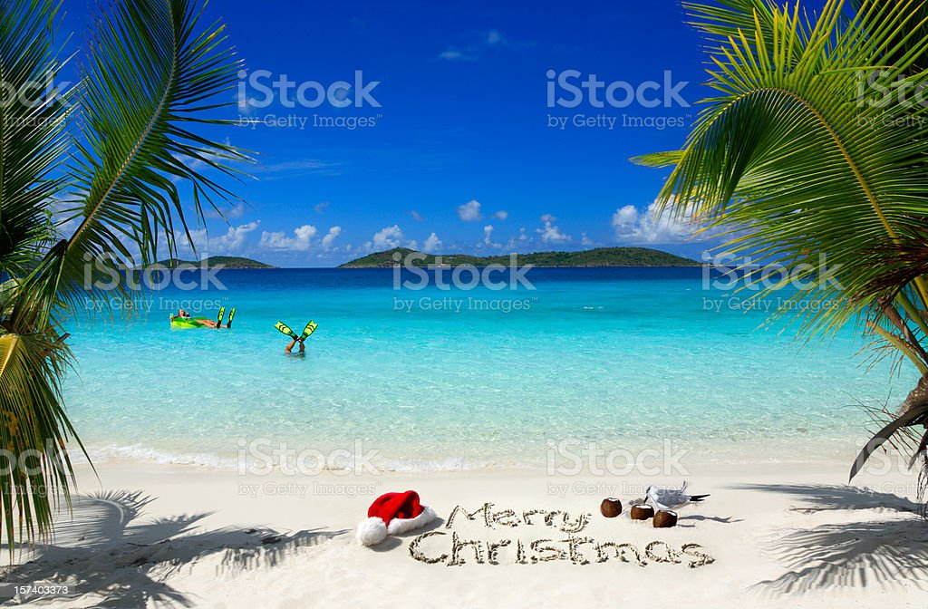 Caribbean Christmas royalty-free stock photo