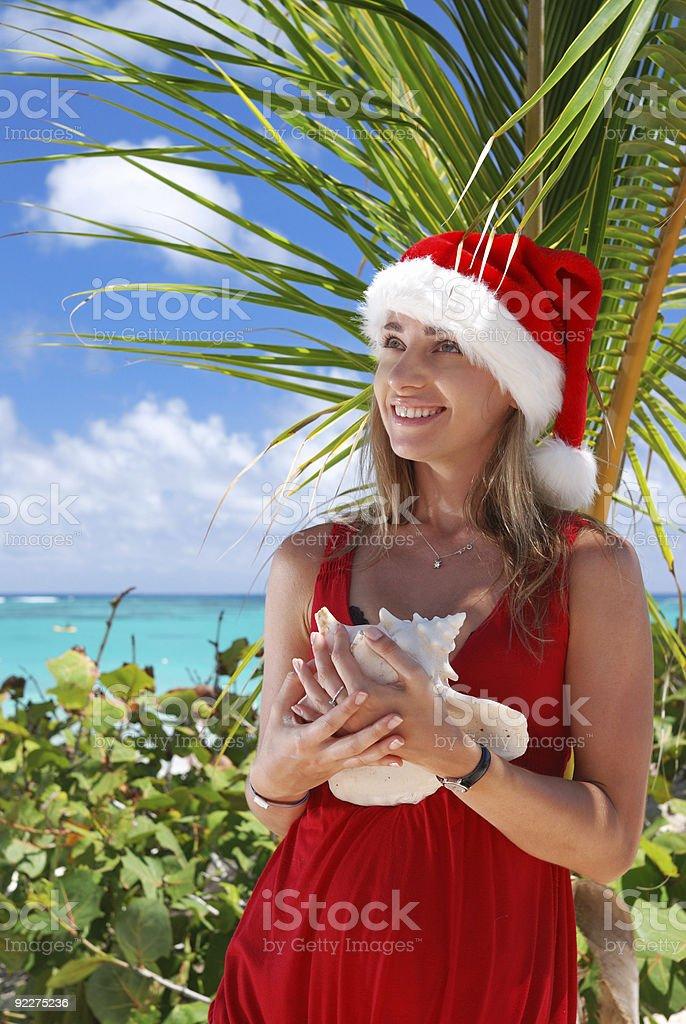 Caribbean christmas royalty-free stock photo