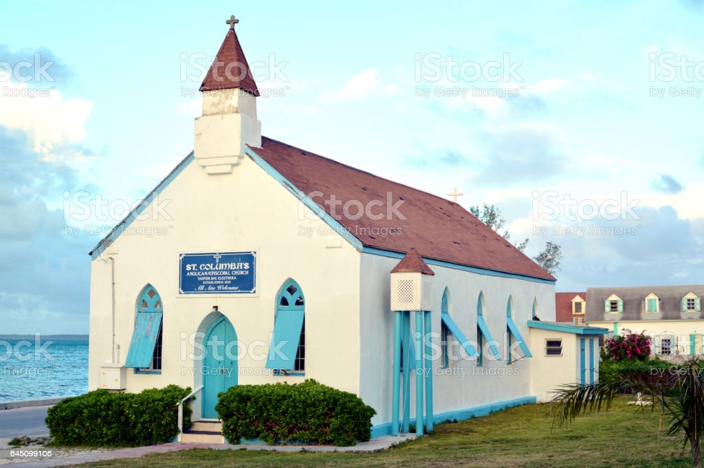 caribbean church stock photo