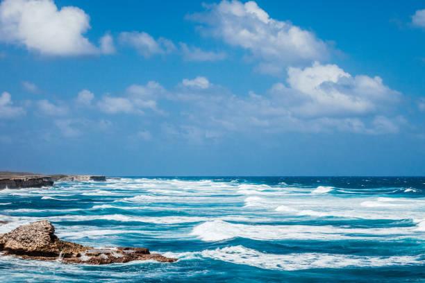 Caribbean coast - Cove Bay, Barbados stock photo