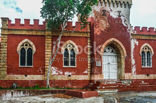 Caribbean Colonial Architecture In St Thomas Virgin Islands Stock Photo
