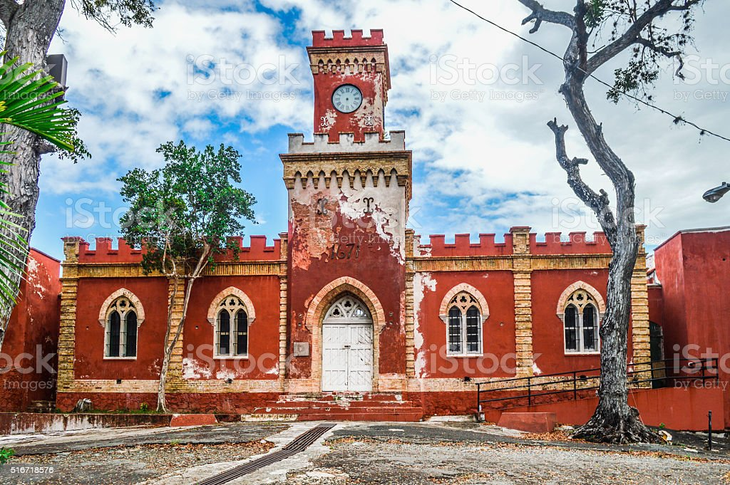 Caribbean Colonial Architecture In St Thomas Virgin Islands Royalty Free Stock Photo