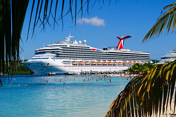 caribbean cruise - cruise ship stock photos and pictures