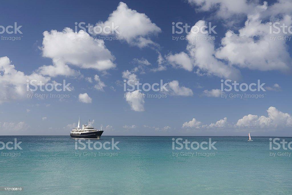 Caribbean Cruising royalty-free stock photo
