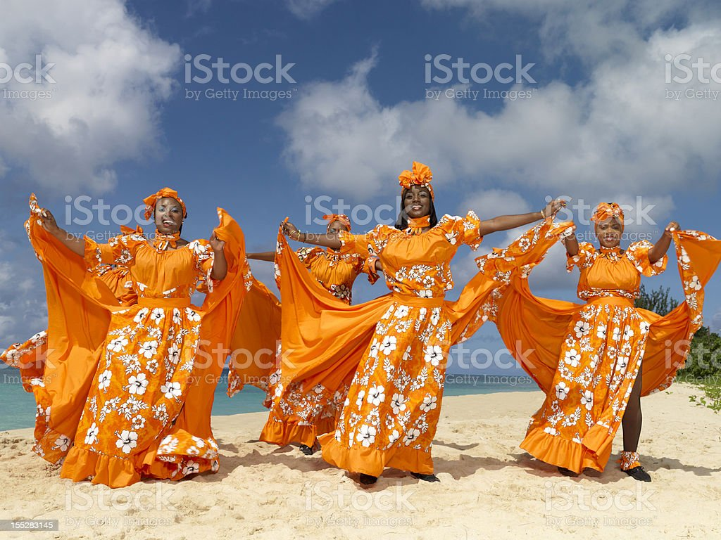 Caribbean Dancers stock photo