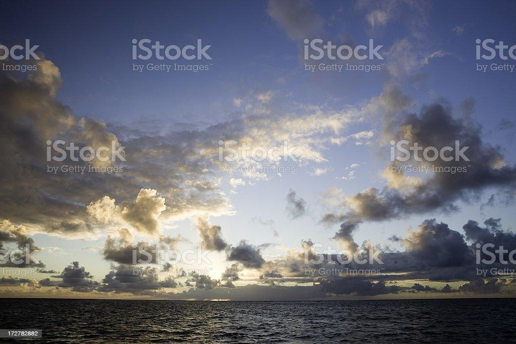 Caribbean Dawn royalty-free stock photo