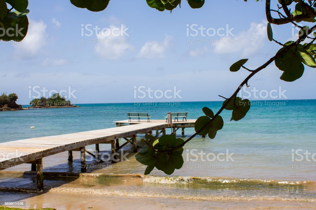 Caribbean Dock stock photo
