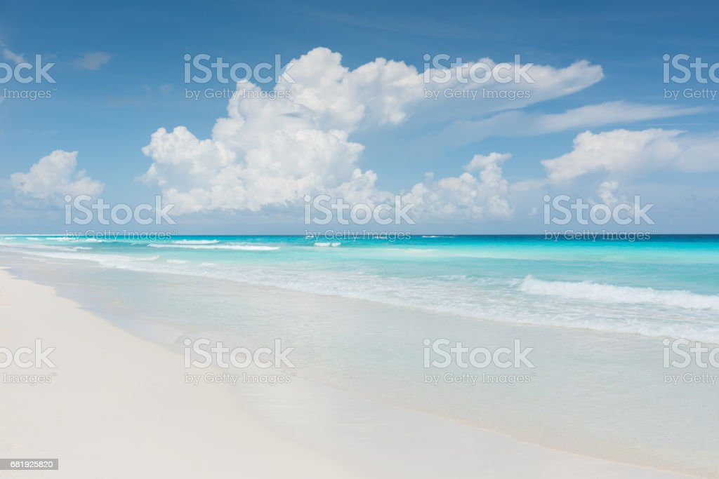 Caribbean Dream Beach Cancun Mexico stock photo
