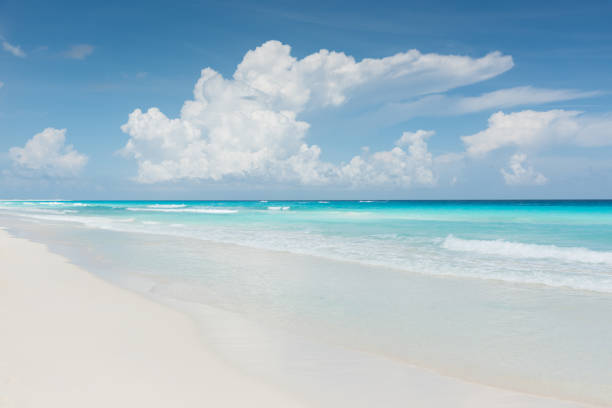 Caribbean Dream Beach Cancun Mexico stock photo