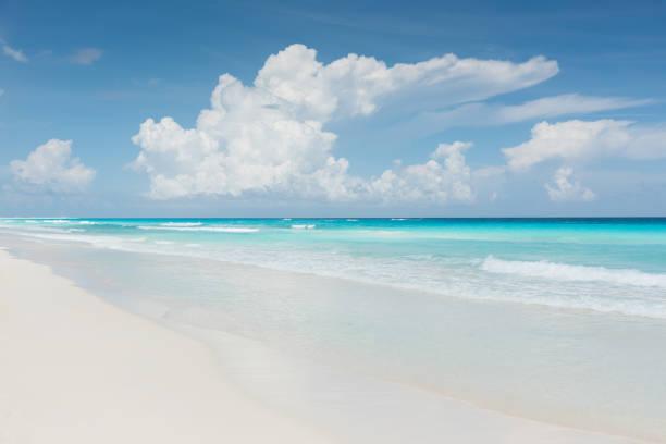 Caribbean Dream Beach Cancun Mexiko bildbanksfoto