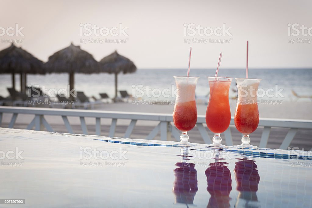 Caribbean Drinks stock photo