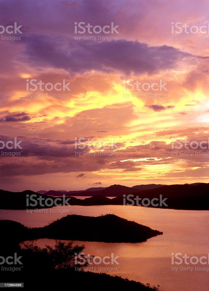 Caribbean dusk royalty-free stock photo