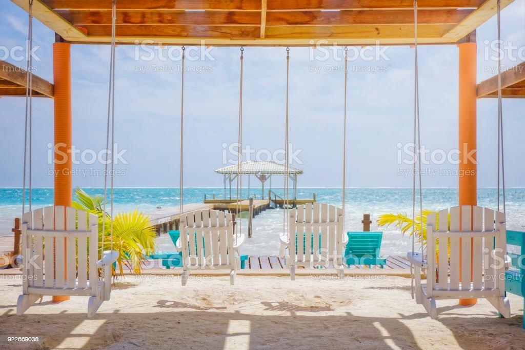Karibik-Feeling am Strand der Karibik-Insel - Belize / Caye Caulker – Foto