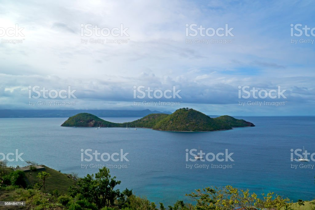 Caribbean, French West Indies, archipelago of Guadeloupe, islands of the saint stock photo