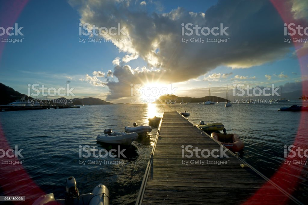 Caribbean, French West Indies, archipelago of Guadeloupe, islands of the saints stock photo