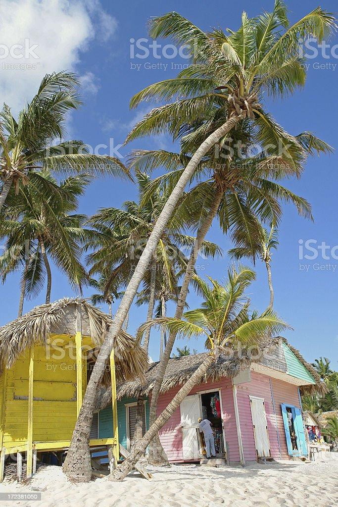 Caribbean Huts royalty-free stock photo