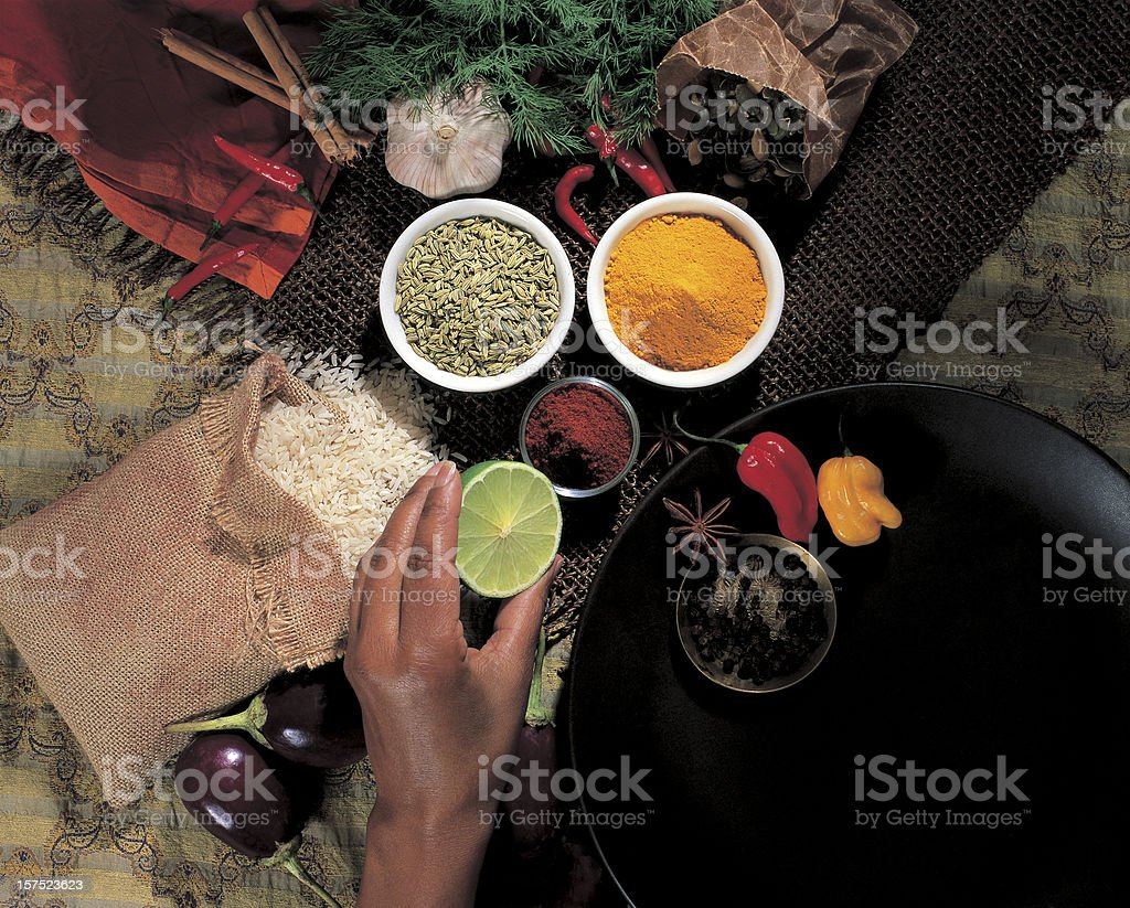 Caribbean ingredients stock photo