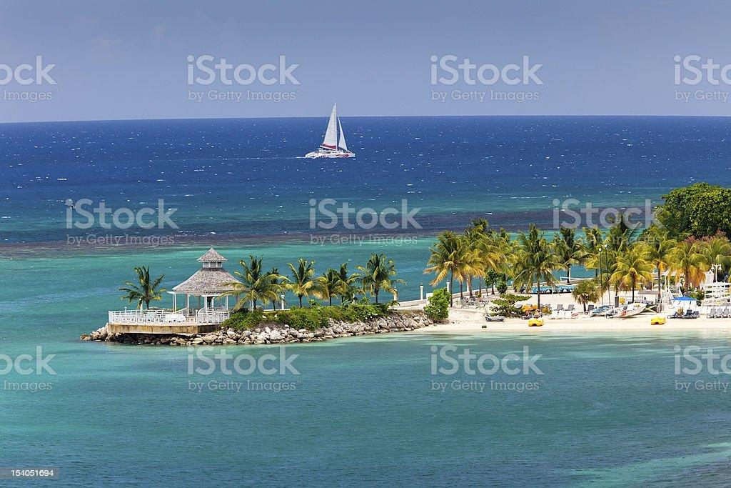 Caribbean Inlet to Ocho Rios, Jamaica stock photo