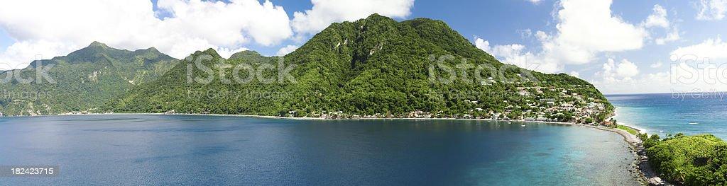 caribbean island dominica stock photo