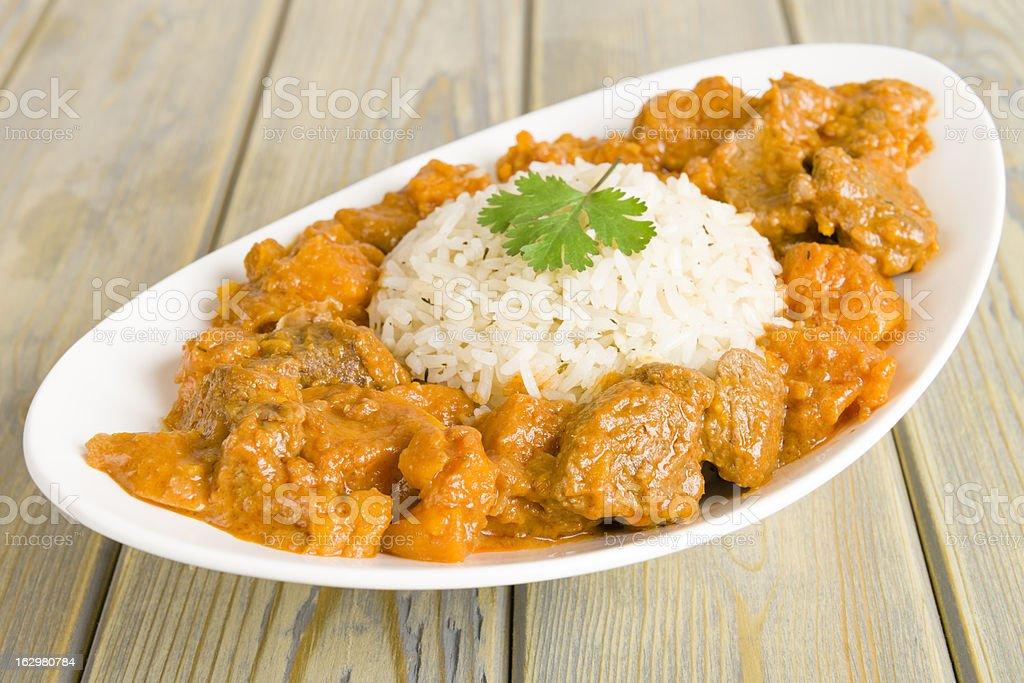 Caribbean Lamb and Sweet Potato Curry royalty-free stock photo