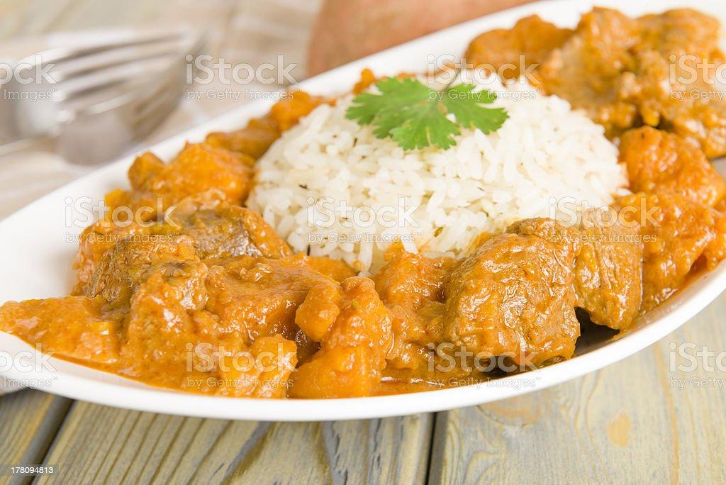 Caribbean Lamb and Sweet Potato Curry stock photo