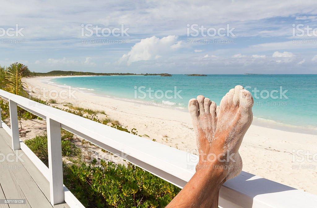 Caribbean landscape - Bahamas stock photo