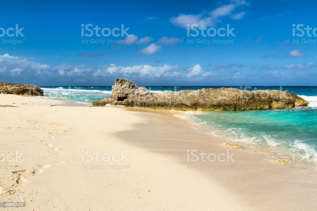 Caribbean landscape - Stocking Island - Bahamas stock photo