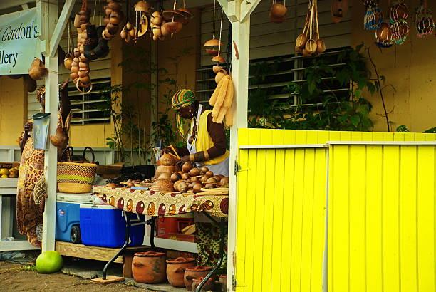 Caribbean Market stock photo