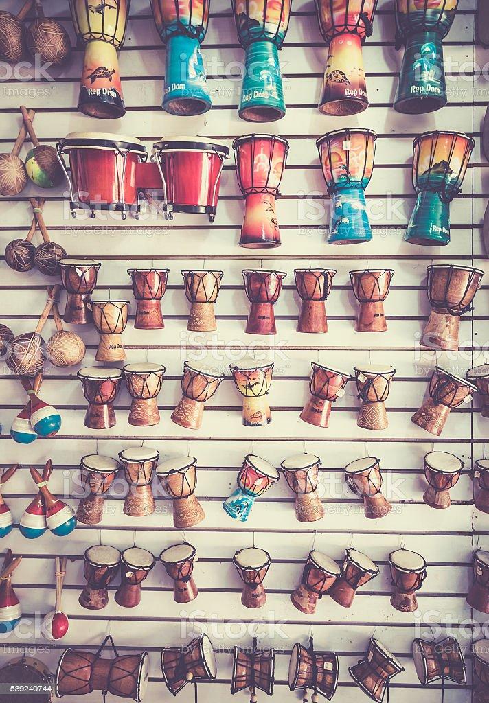Caribbean music instruments royalty-free stock photo