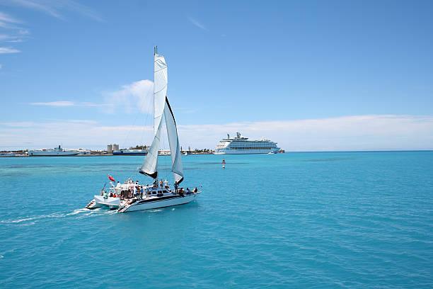 caribbean party sail - katamaran bildbanksfoton och bilder