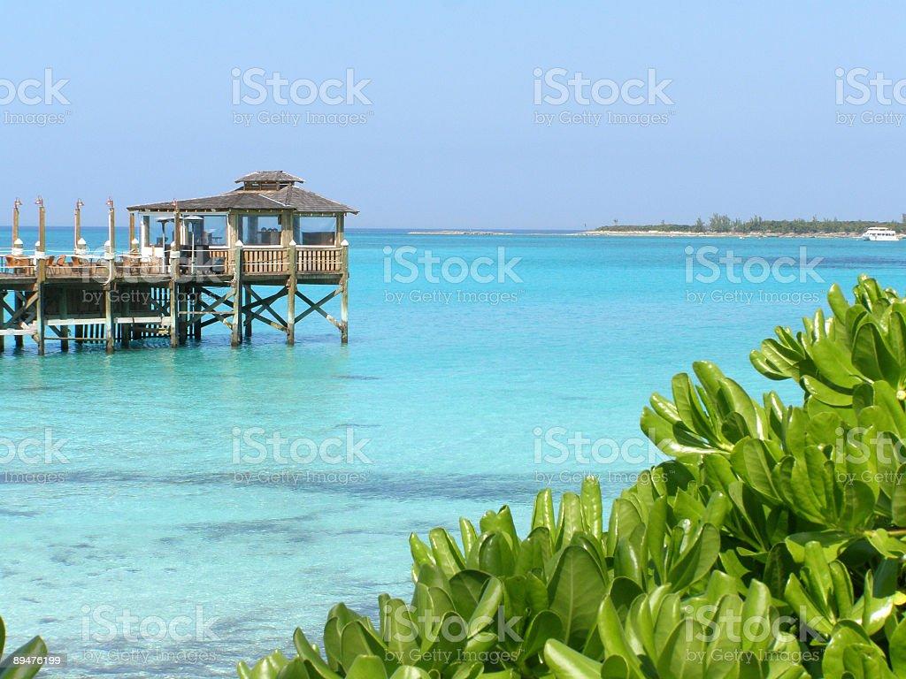 Caribbean Pier royalty-free stock photo
