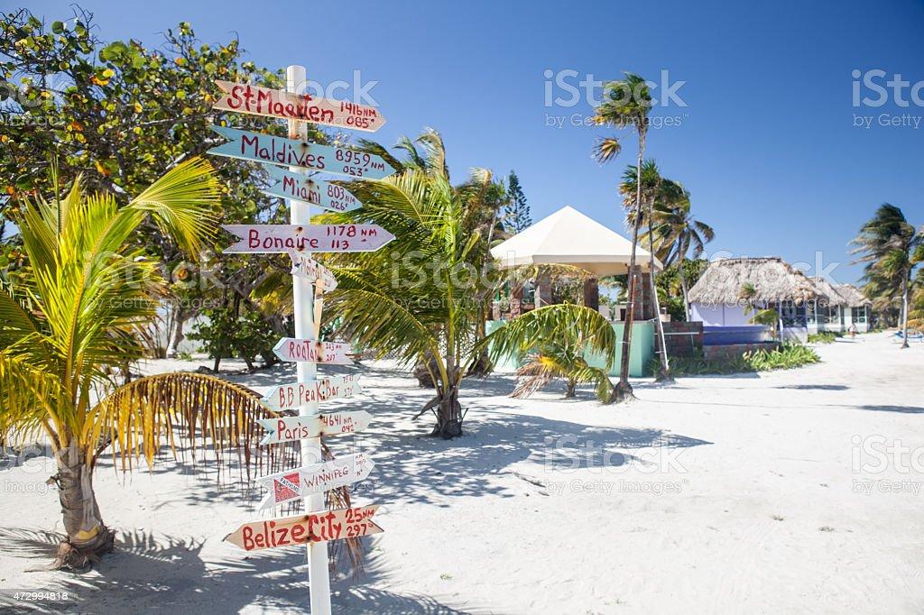 Caribbean Resort Signs stock photo