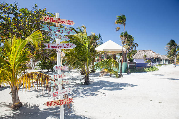 Caribbean Resort Signs stock photo