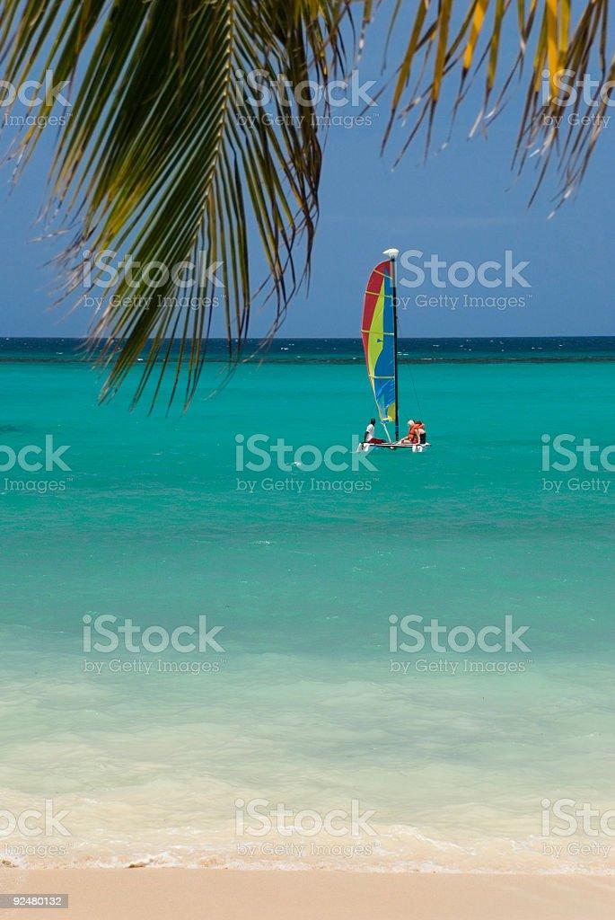 Caribbean sailing royalty-free stock photo