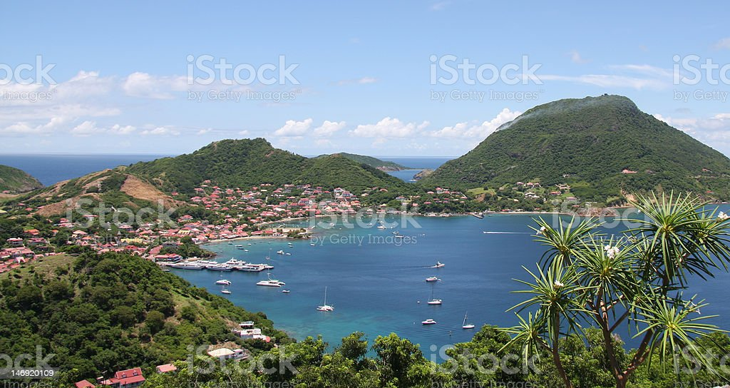 Caribbean sea and island royalty-free stock photo