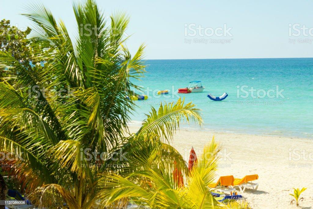 caribbean sea at Jamaica stock photo