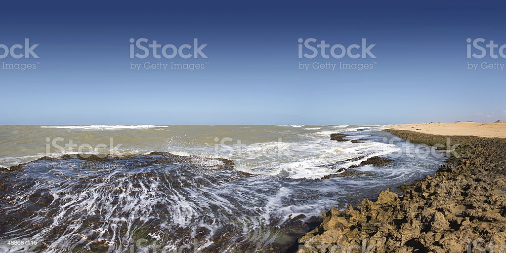 Caribbean Sea at the northern point of South America stock photo