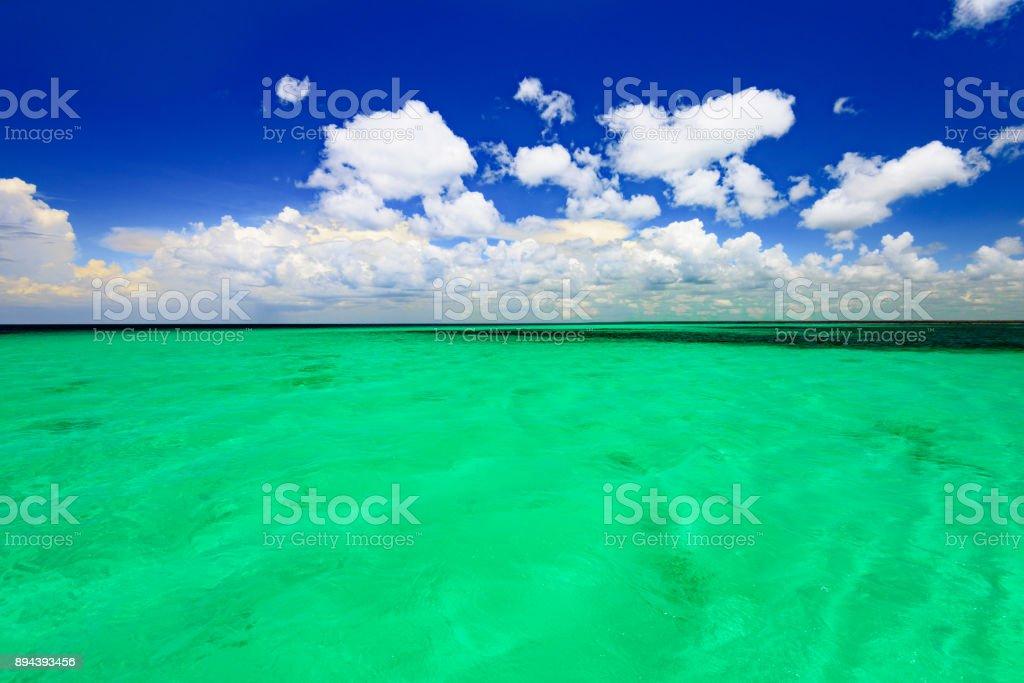 Caribbean sea Dominican Republic turquoise stock photo