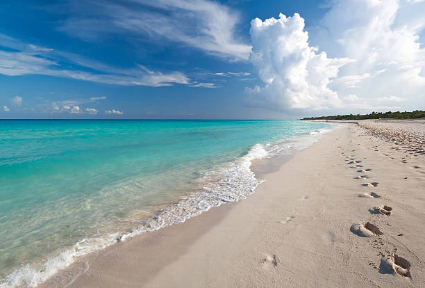 caribbean sea - playa del carmen stock photos and pictures