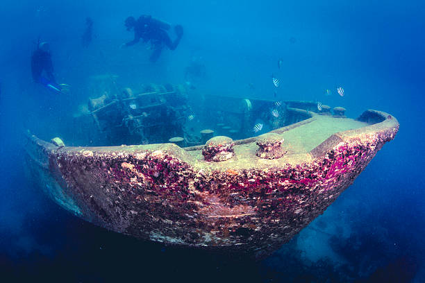 caribbean shipwreck - wreck diving stock pictures, royalty-free photos & images