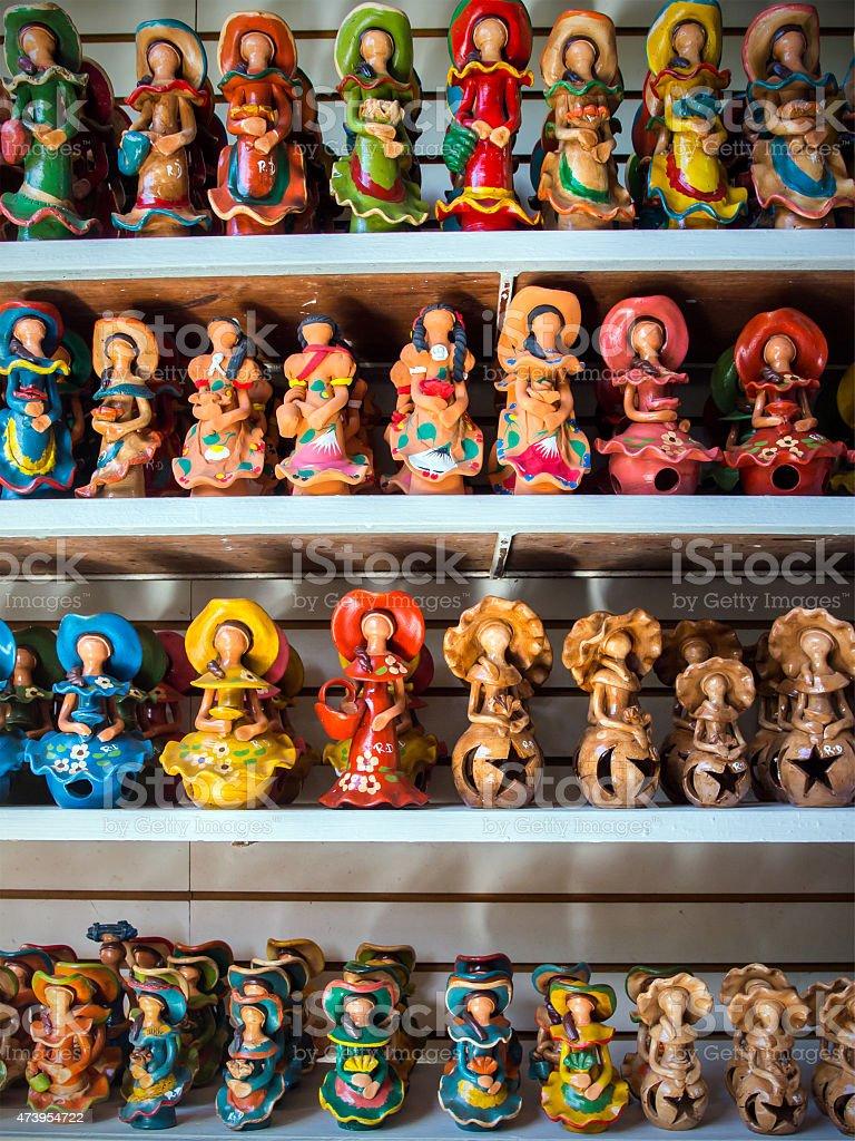 Caribbean souvenirs in Dominican Republic stock photo