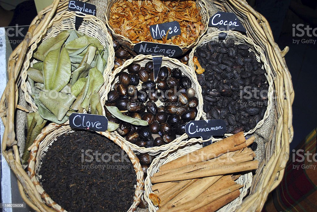 Caribbean spices royalty-free stock photo